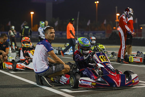 Tom Bale CIK World Championship Bahrain